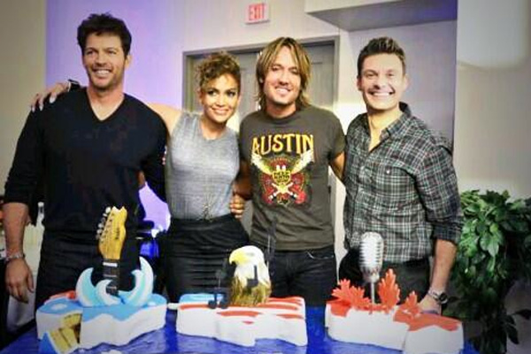 Harry Connick Jr., Jennifer Lopez, Keith Urban & Ryan Seacrest