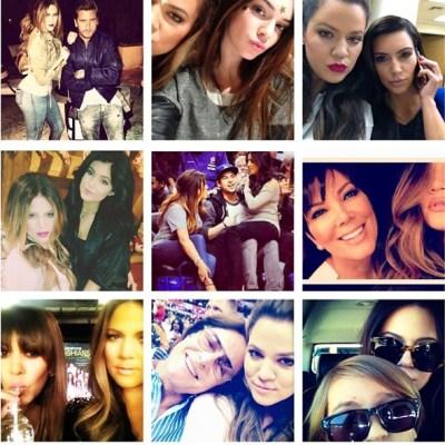Khloe Kardashian & family