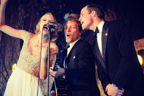 Taylor Swift, Jon Bon Jovi & Prince WIlliam