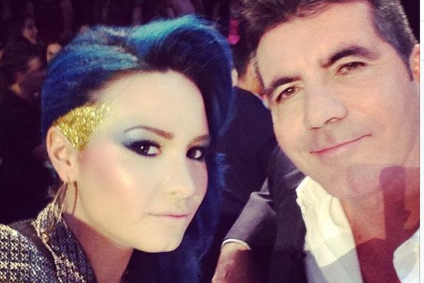 Demi Lovato & Simon Cowell