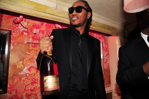 Future at VIP table at the Moet Rose Lounge