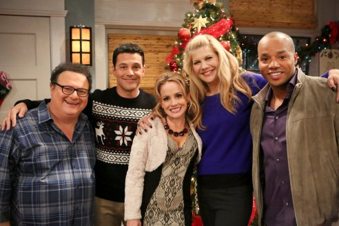 Wayne Knight, David Alan Basche, Kelly Stables, Kristen Johnston and Donald Faison