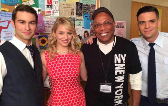 Chace Crawford, Dianna Agron, Paris Barclay & Mark Salling