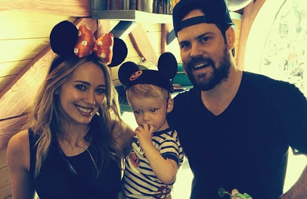 Hilary Duff, Luca Comrie & Mike Comrie