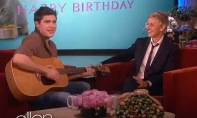 Zac Efron & Ellen DeGeneres