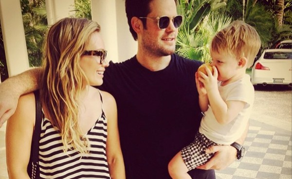 Hilary Duff, Mike Comrie & Luca Comrie