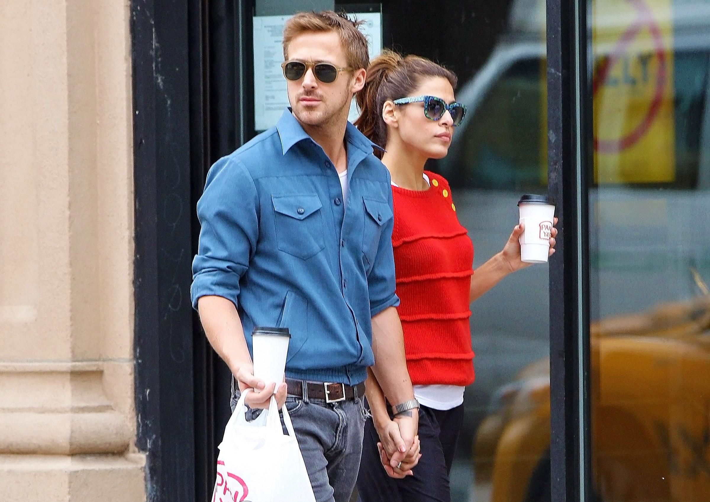Ryan Gosling, Eva Mendes Fighting