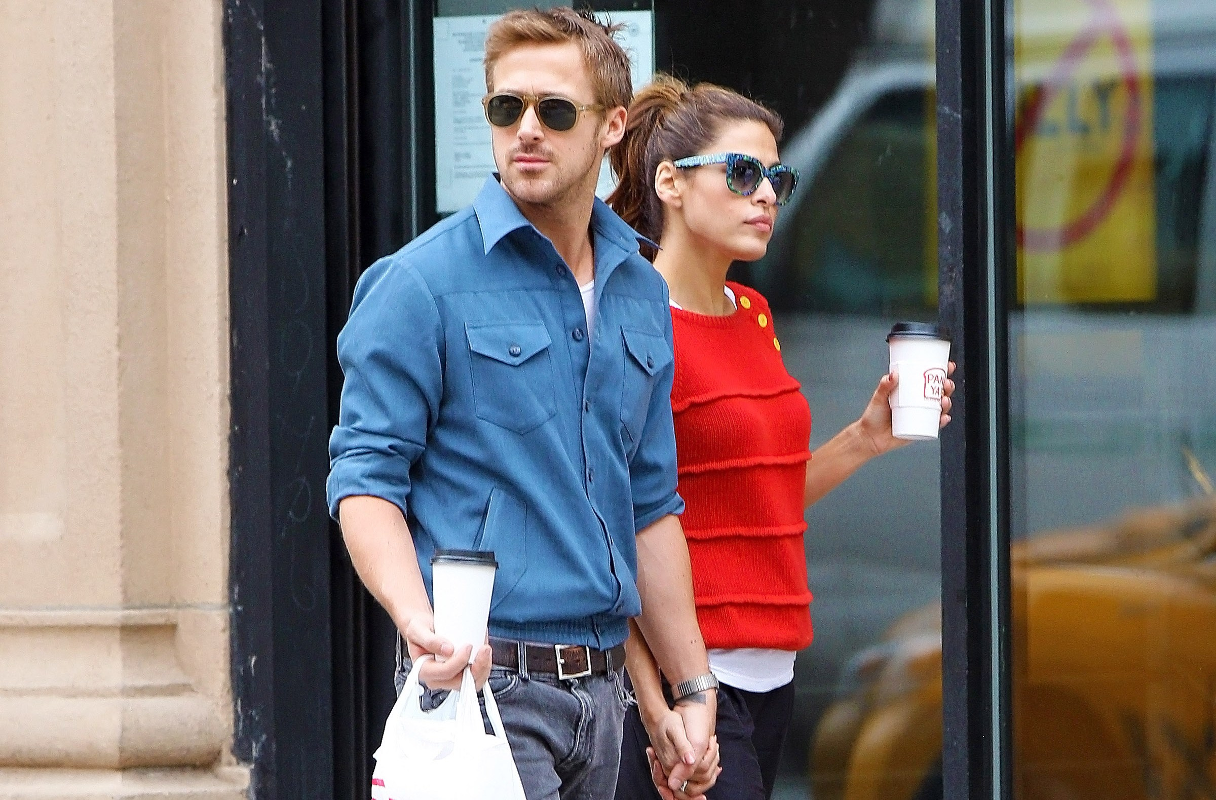 Ryan Gosling, Eva Mendes Fighting