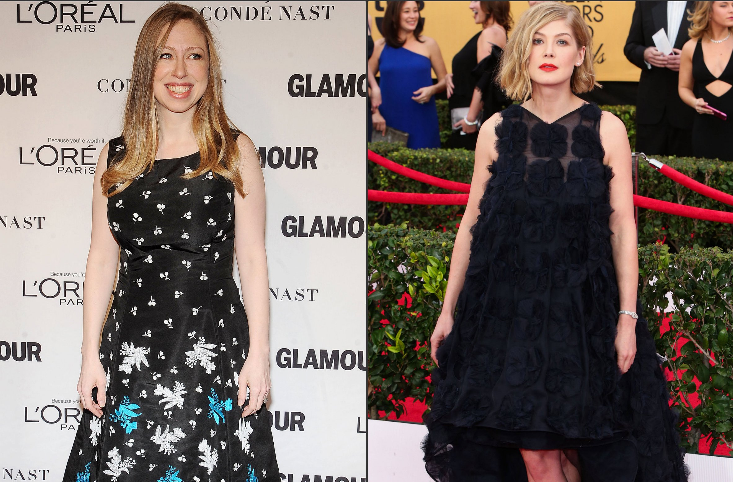 Rosamund Pike and Chelsea Clinton Fight