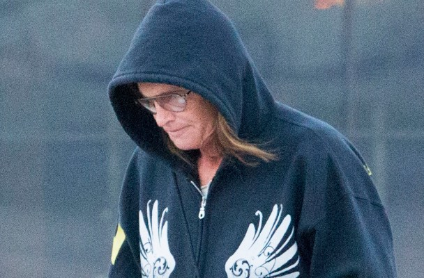 EXCLUSIVE: Bruce Jenner does his early morning coffee run.