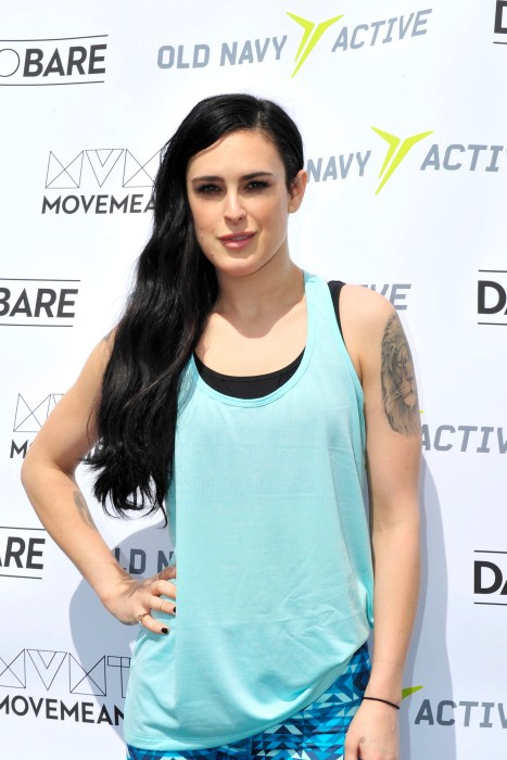 Rumer Willis stops by the Dare to Bare & Old Navy Active event in SF
