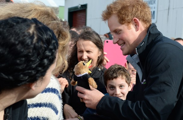 Prince Harry greets crowds in Whanganui