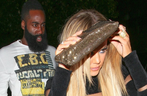 West Hollywood, CA - Khloe Kardashian and James Harden leave The Nice Guy in West Hollywood after Kylie Jenners 18th birthday party.  AKM-GSI          August 9, 2015  To License These Photos, Please Contact :  Steve Ginsburg (310) 505-8447 (323) 423-9397 steve@akmgsi.com sales@akmgsi.com  or  Maria Buda (917) 242-1505 mbuda@akmgsi.com ginsburgspalyinc@gmail.com
