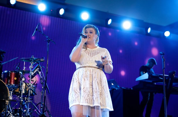 LAS VEGAS, NV - MAY 30:  Recording artist Kelly Clarkson performs onstage during The iHeartRadio Summer Pool Party at Caesars Palace on May 30, 2015 in Las Vegas, Nevada.  (Photo by Isaac Brekken/Getty Images for iHeartMedia)