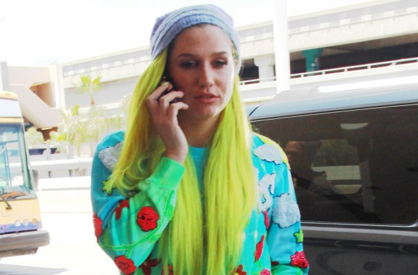 Kesha spotted at LAX airport departing for Las Vegas. She was seen with green hair and colorful pajamas.   Pictured: Kesha Ref: SPL1070743  040715   Picture by: Diabolik / Splash News  Splash News and Pictures Los Angeles:	310-821-2666 New York:	212-619-2666 London:	870-934-2666 photodesk@splashnews.com