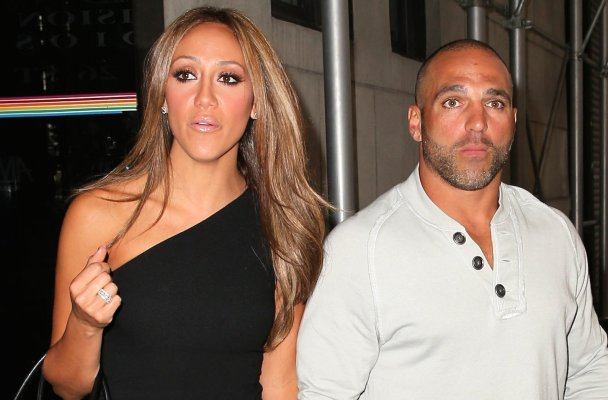 """TV personality Melissa Gorga dazzles in a black one-piece jumpsuit holding hands with her husband Joe Gorga at The Wendy Williams Show in New York City. Melissa is promoting here controversial new book """"Love, Italian Style: The Secrets of My Hot and Happy Marriage.""""  Quote: """"Men, I know you think your woman isn't the type who wants to be taken. But trust me, she is. Every girl wants to get her hair pulled once in a while. If your wife says 'no,' turn her around, and rip her clothes off. She wants to be dominated.""""  Pictured: Melissa Gorga and Joe Gorga Ref: SPL625269  031013   Picture by: Christopher Peterson/Splash News  Splash News and Pictures Los Angeles:310-821-2666 New York:212-619-2666 London:870-934-2666 photodesk@splashnews.com"""
