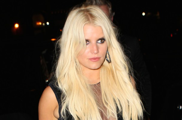 ***MANDATORY BYLINE TO READ INFPhoto.com ONLY*** Jessica Simpson, wearing a sheer deep-V jumpsuit, are seen returning to their hotel this evening after dinner in New York City.  Pictured: Jessica Simpson Ref: SPL1121507  100915   Picture by: T.Jackson/INFphoto.com