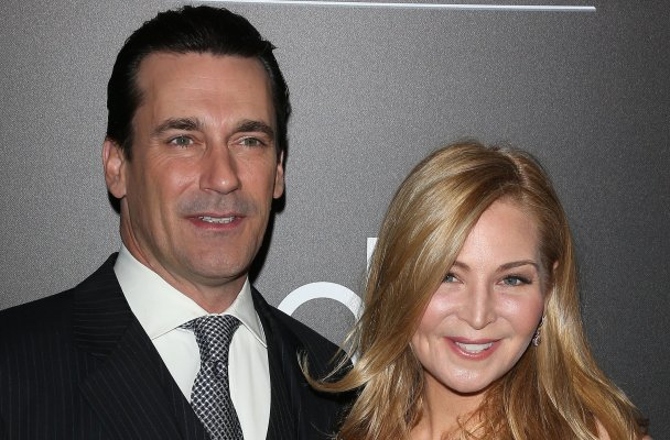The PEOPLE Magazine Awards - Beverly Hills  Pictured: Jon Hamm, Jennifer Westfeldt Ref: SPL915317  181214   Picture by: Jen Lowery / Splash News  Splash News and Pictures Los Angeles:	310-821-2666 New York:	212-619-2666 London:	870-934-2666 photodesk@splashnews.com