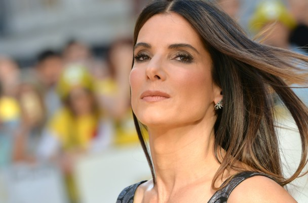 "LONDON, ENGLAND - JUNE 11:  Sandra Bullock attends the World Premiere of ""Minions"" at Odeon Leicester Square on June 11, 2015 in London, England.  (Photo by Anthony Harvey/Getty Images)"