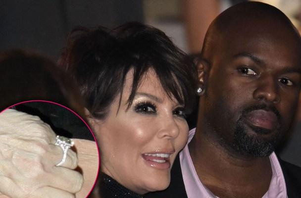 Caitlyn Jenner and Chris Jenner attend Victoria Secret Fashion Show   Pictured: Corey Gamble, Kris Jenner Ref: SPL1173679  101115   Picture by:  007  Splash News and Pictures Los Angeles:	310-821-2666 New York:	212-619-2666 London:	870-934-2666 photodesk@splashnews.com