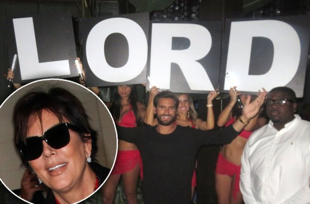 kris jenner angry scott disick christmas eve party