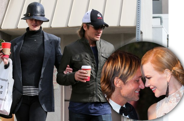 EXCLUSIVE: ** PREMIUM EXCLUSIVE RATES APPLY** Nicole Kidman and Keith Urban spend Christmas Eve at the mall with their daughters in Sherman Oaks, California. The couple visited shops and restaurants before taking Sunday Rose and Faith Margaret to a children's hair salon.  Pictured: Nicole Kidman and Keith Urban Ref: SPL1195676  281215   EXCLUSIVE Picture by: MRM / Splash News  Splash News and Pictures Los Angeles:	310-821-2666 New York:	212-619-2666 London:	870-934-2666 photodesk@splashnews.com