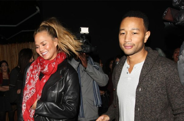 chrissy teigen date night pregnant john legend photos