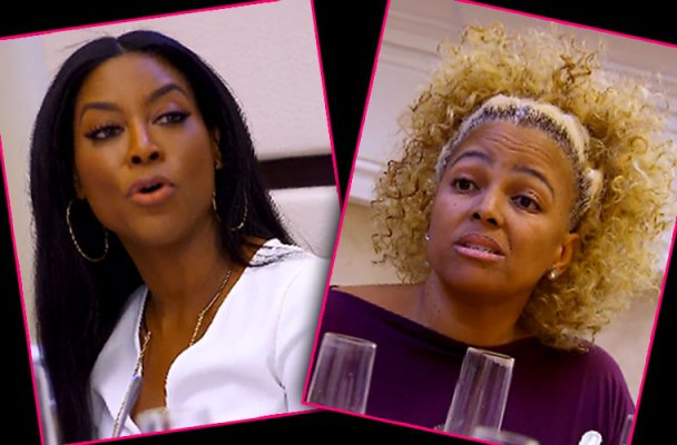 kenya moore kim fields makeup diss brunch rhoa