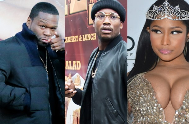 Meek Mill's Instagram Fight With 50 Cent -- 'Get Nicki Minaj Pregnant'