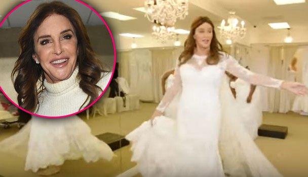 caitlyn jenner wedding dress video