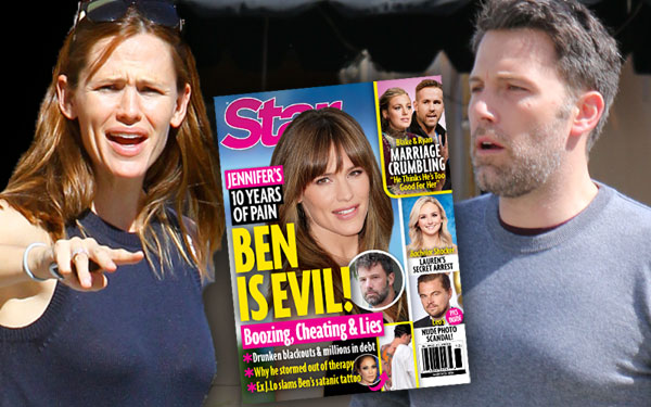 Ben Affleck Jennifer Garner Divorce Marriage Secrets Lies Evil PP