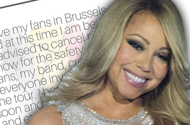 mariah carey brussels concert cancelled birthday easter sunday