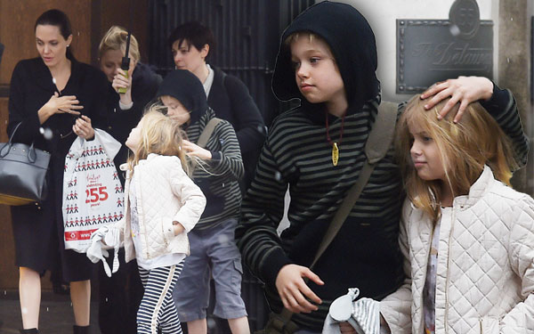 Angelina Jolie Kids No Rules Bizarre World London Pics