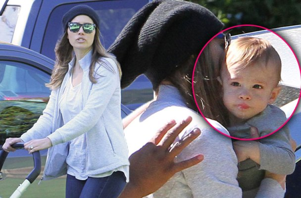 Jessica Biel Post Baby Body Son Silas Park