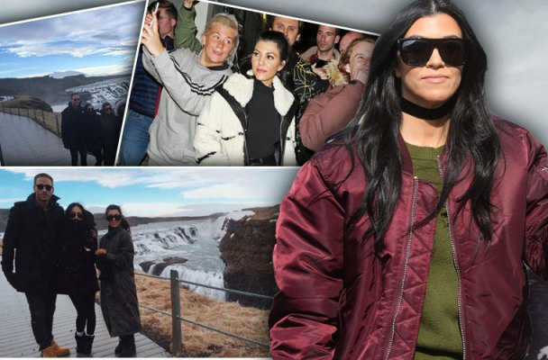 Kim Kardashian Kanye West Kourtney Kardashian Birthday Iceland