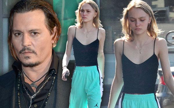 Johnny Depp Daughter Lily Rose Depp Skinny Model Pics 1
