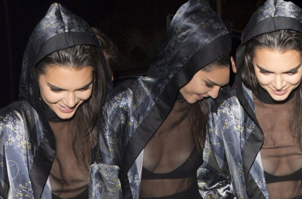 kendall jenner nip slip sheer top cannes wardrobe malfunction pics