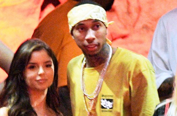 tyga partying new girlfriend demi rose cannes pics