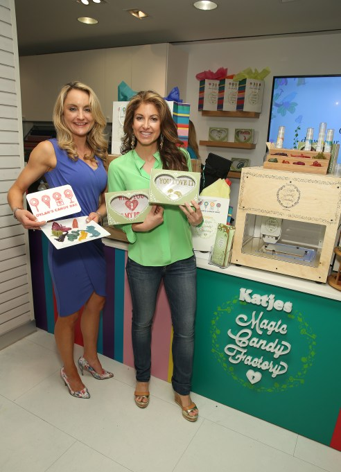 NEW YORK, NY - JUNE 06: (L-R) Managing Director of Katjes Magic Candy Factory .Melissa Snover and CEO and Founder of Dylan's Candy Bar Dylan Lauren attend Dylan's Candy Bar-New York City Flagship 3rd Avenue launch of 3D printed candy with Katjes Magic Candy Factory on June 6, 2016 in New York City. (Photo by Cindy Ord/Getty Images for Dylan's Candy Bar)