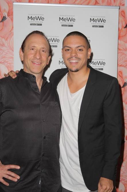 Evan Ross and MeWe Founder CEO Mark Weinstein