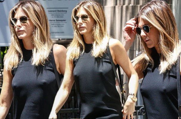 jennifer aniston boobs no bra nipples pics