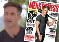 Mens Fitness Video Chris Pine Cover Tease Star 1