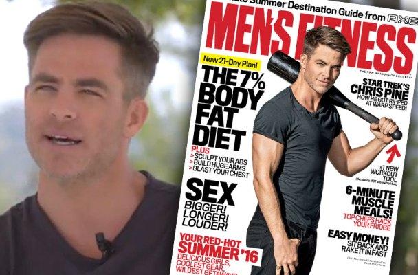 Mens Fitness Video Chris Pine Cover Tease Star 1