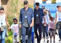 Sandra Bullock Boyfriend Bryan Randall Family Day Son Louis pics