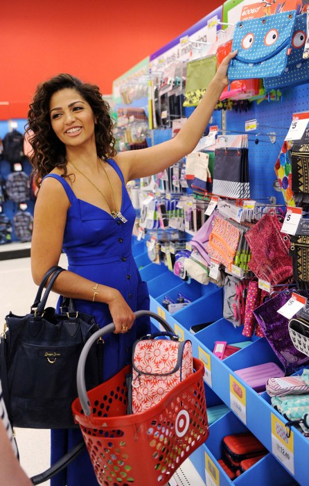 Camila Alves Back to School Shopping at Target