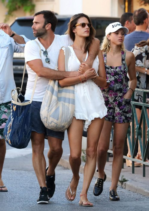 Exclusive... Alessandra Ambrosio Enjoys Ice Cream In Saint-Tropez WithSofiaRichie