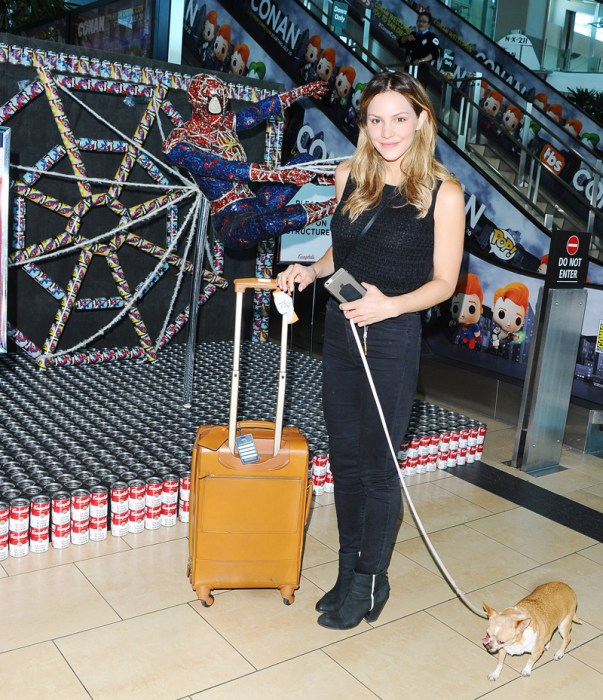 Katharine McPhee at the San Diego Airport
