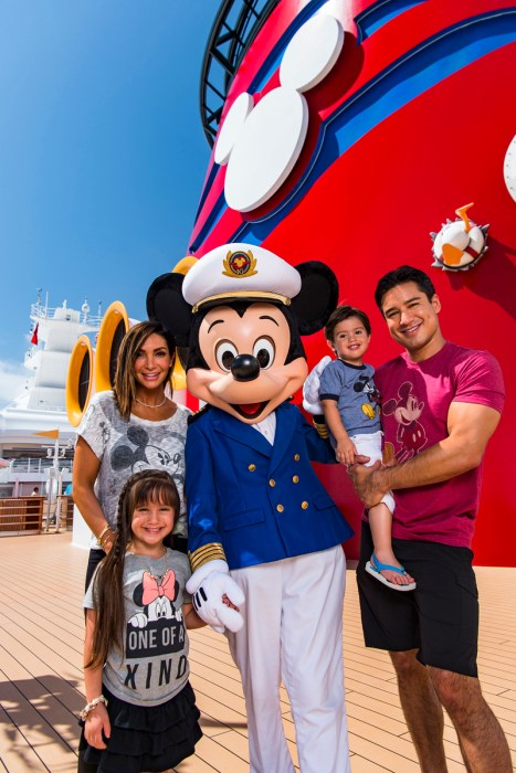 TV host Mario Lopez vacations with family aboard the Disney Dream
