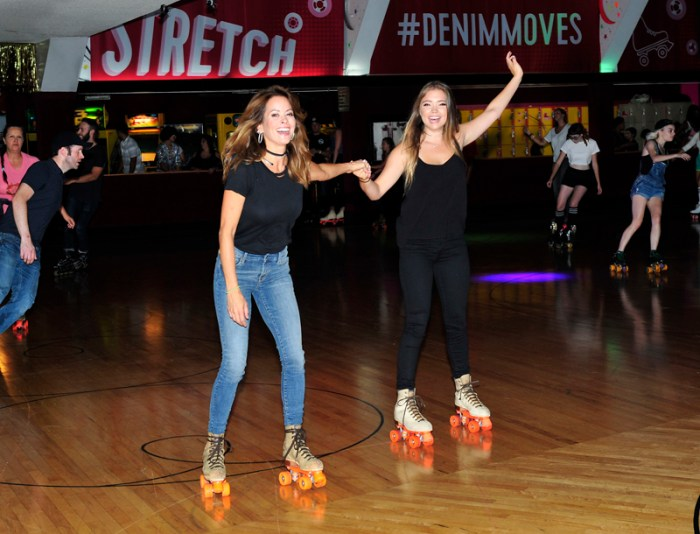Brooke Burke-Charvet and Family at the Old Navy #DENIMMOVES Roller Disco Party