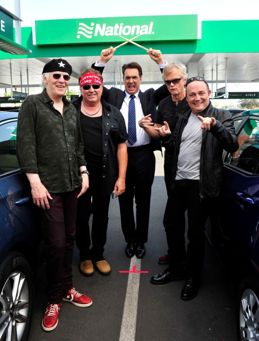 Patrick Warburton Films a National Car Rental `Go Like A Pro` spot Also Featuring Loverboy